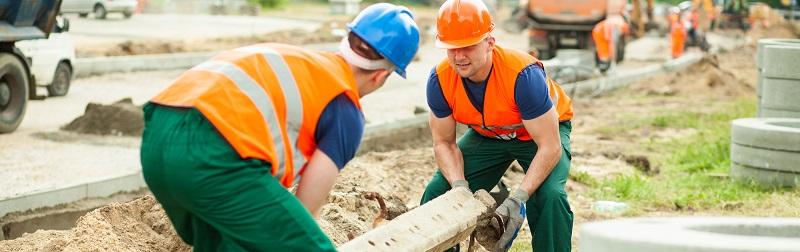 Construcción de cemento pesado